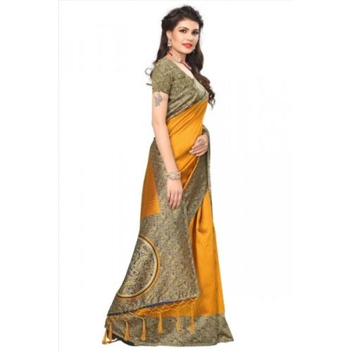 2c6275149 Buy HITESH ENTERPRISE Self Design Mysore Art Silk Saree online ...