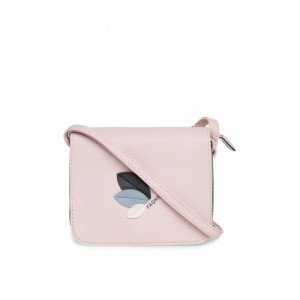 Alvaro Castagnino Pink Synthetic Solid Sling Bag