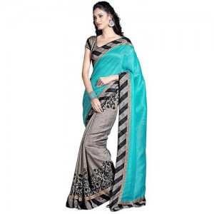 Parchayee Printed Fashion Synthetic Crepe Saree