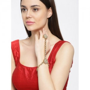 Priyaasi Gold-Plated Handcrafted Ring Bracelet