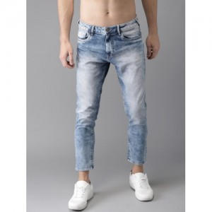 HERE&NOW Blue Tapered Fit Ankle Length Mid-Rise Clean Look Stretchable Jeans