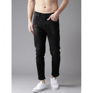 Moda Rapido Black Slim Tapered Fit Mid-Rise Clean Look Stretchable Jeans