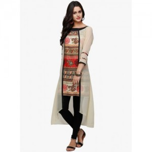 Ojjasvi Multicoloured Printed Overlay Kurta