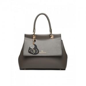 Diana Korr Taupe Solid Handheld Bag