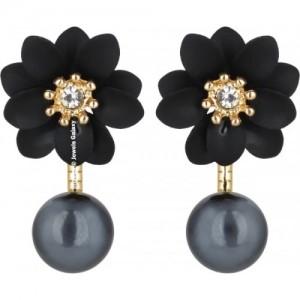 Jewels Galaxy Luxuria Flowerets Pearl Alloy Stud Earring