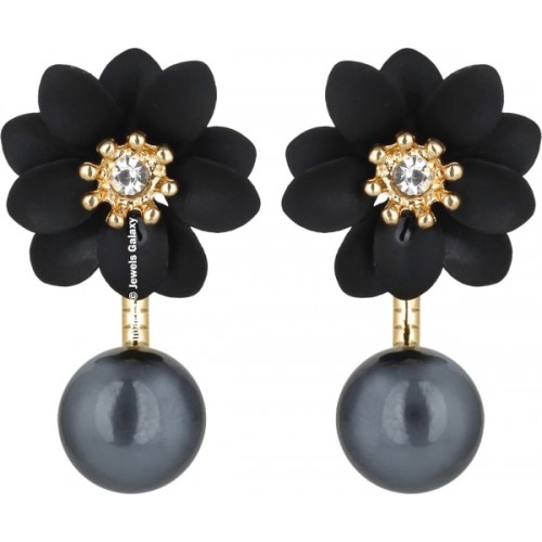 Jewels Galaxy Luxuria Flowerets Pearl Alloy Stud Earring