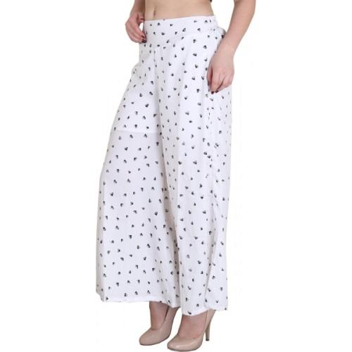 Kannan Regular Fit Women's White Trousers