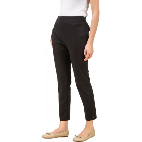 Q-Rious Regular Fit Women Black, Dark Blue Trousers