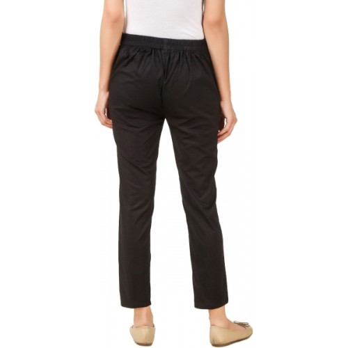 Q-Rious Regular Fit Women Black, White Trousers