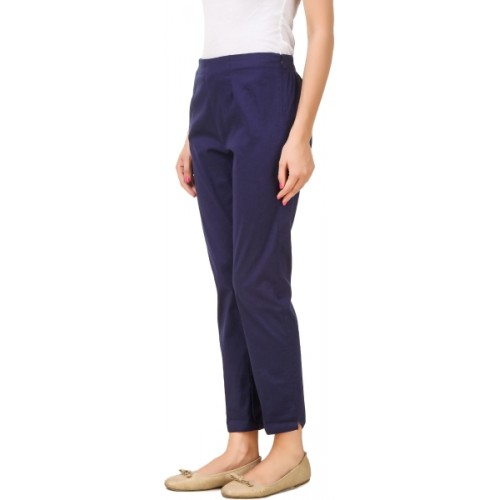 Q-Rious Regular Fit Women's Dark Blue, Maroon Trousers