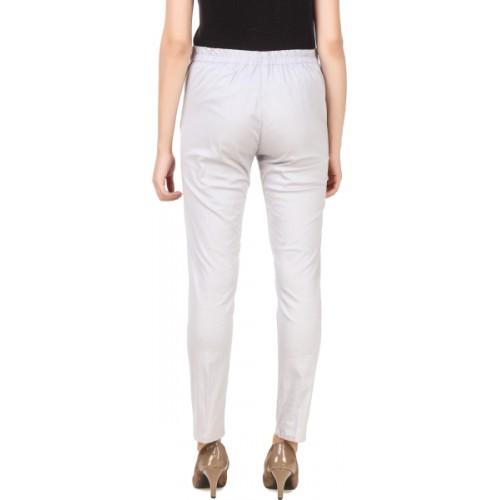 Q-Rious Regular Fit Women's Grey, Dark Blue Trousers