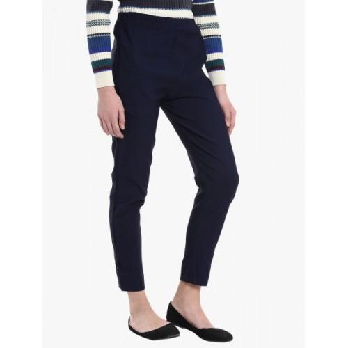 Broadstar Regular Fit Women Blue Trousers