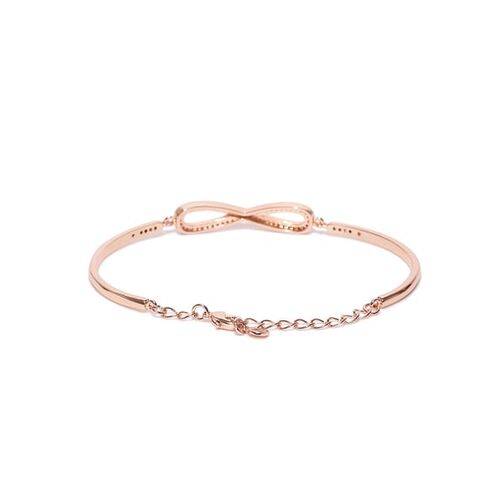 Jewels Galaxy 18K Rose Gold-Plated Handcrafted Bracelet