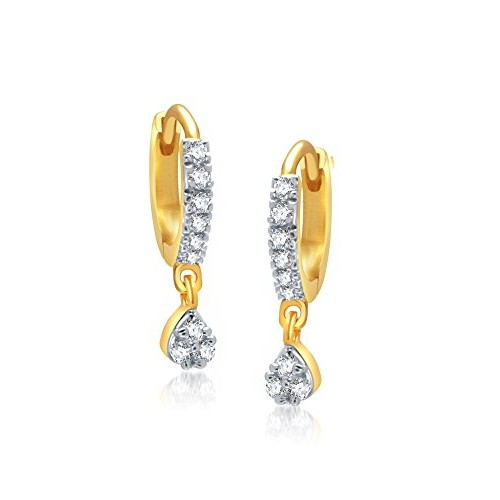 Jewels Galaxy Gold Plated Stud Earrings for Women (White)(JG-ERGYOU-9000)