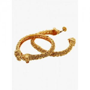 Prita Set Of 2 Golden Alloy Bangles