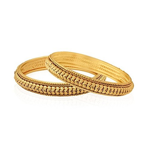 Jewels Galaxy Trendy Gold Plated Bangle Set For Women/Girls