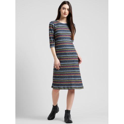 ff6fbd1805 Buy Zink London Women Multicoloured Striped Sheath Dress online ...