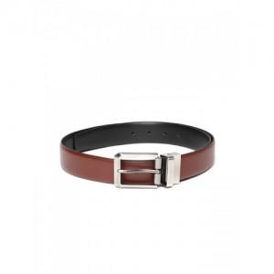 INVICTUS Men Brown & Black Reversible Solid Leather Belt