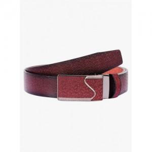 Buckleup Maroon Leather Solid Belt
