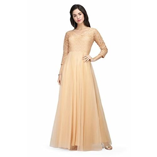 Buy Eavan Women\'s Golden Embellished Gown online | Looksgud.in