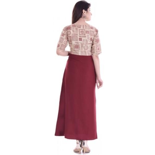 YASHVI Block Print Women's Gown Kurta