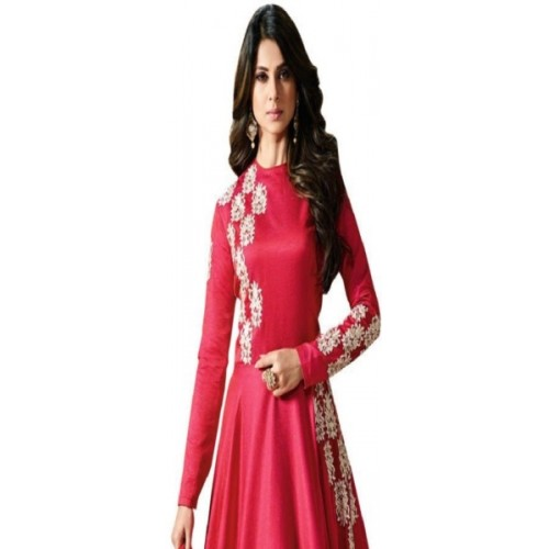 Style Amaze Pink Embroidered Gown