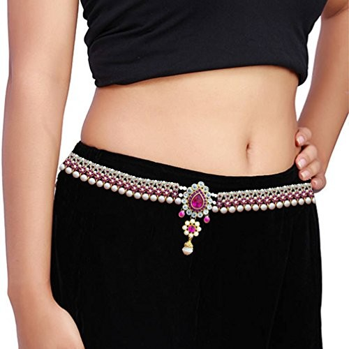 Pcm Kamar Bandh Gold Plated Belly Hips Chain Kamarbandh For Women