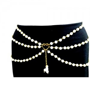 Town Of Trinkets pearl multi layer belly chain, waist chain