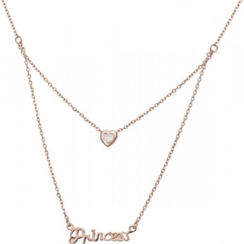 Aaishwarya Love Bling Princess Layered Rose Gold Chain Set