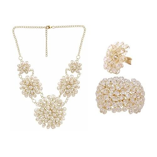 Aabhu American Diamond Jewellery Combo For Women