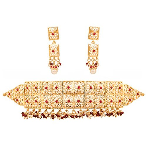 Touchstone Rani Necklace And Choker Embellished For Women