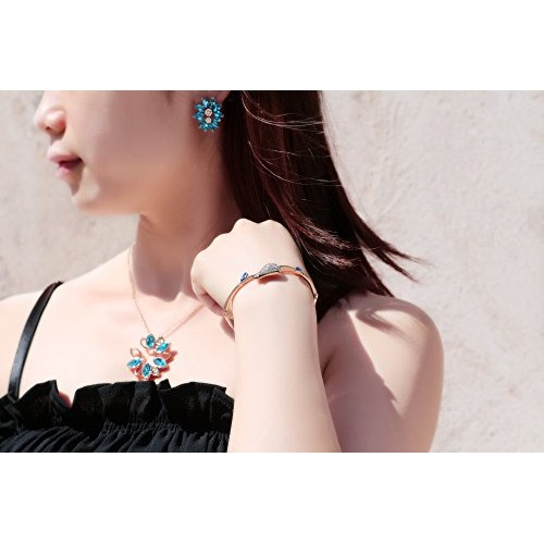 YouBella Crystal Jewellery of Necklace Set/Pendant Set with Earrings and Bracelet