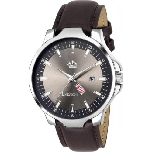LimeStone LS2729 Brown Analog Watch  - For Men