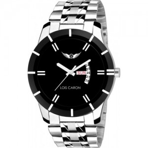 Lois Caron  BLACK DIAL DAY & DATE FUNCTIONING Watch