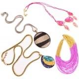 IndianShelf Resin, Leather, Glass, Plastic Necklace