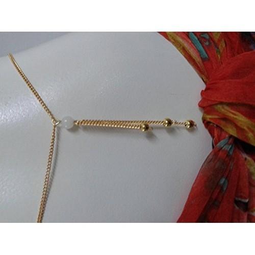 TOWN OF TRINKETS  Summer Trendy Gold Bikini Belly Body Waist Link Chain