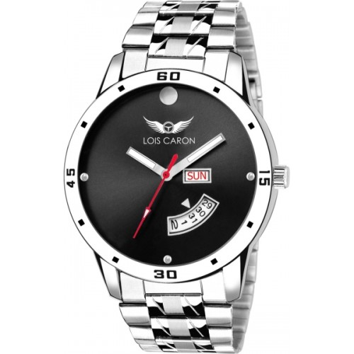 671018ba268 ... Men  Lois Caron LCS-8060 BLACK DIAL DAY   DATE FUNCTIONING Watch - For  ...