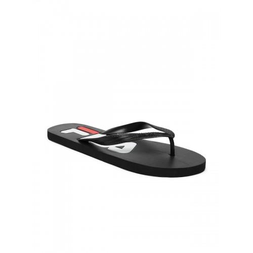 bdefc3aa20b Buy Fila Troy Black Slippers online