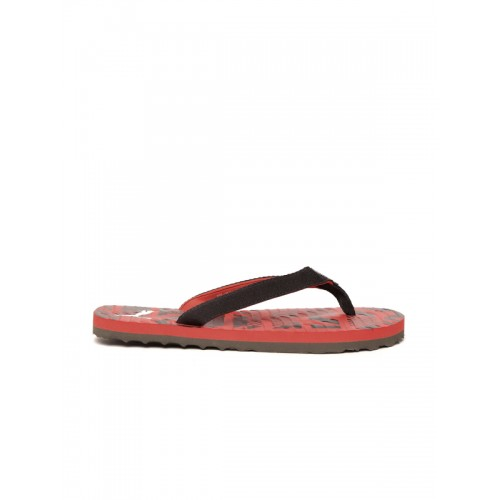 7d6a14942b3a Buy Puma Unisex Red   Black Printed Mykonos Graphic IDP Flip-Flops ...