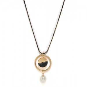 Mast & Harbour Black & Gold-Toned Metal Chain