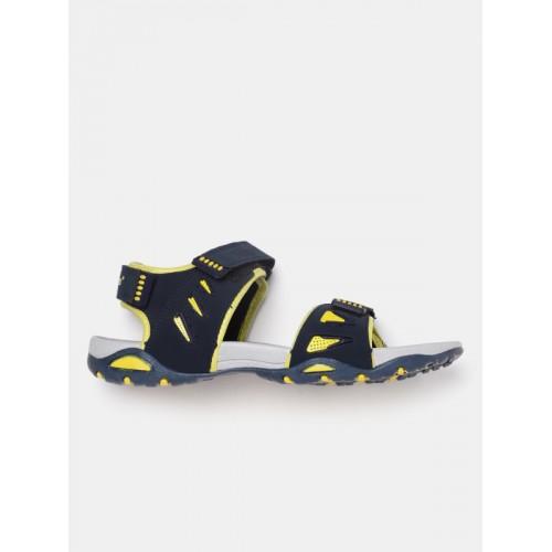 Roadster Men Navy & Yellow Sports Sandals