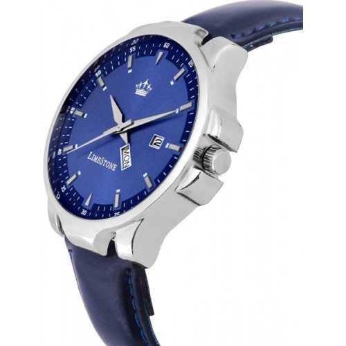 LimeStone LS2728 Blue Avtar Day and Date Functioning Analog Watch