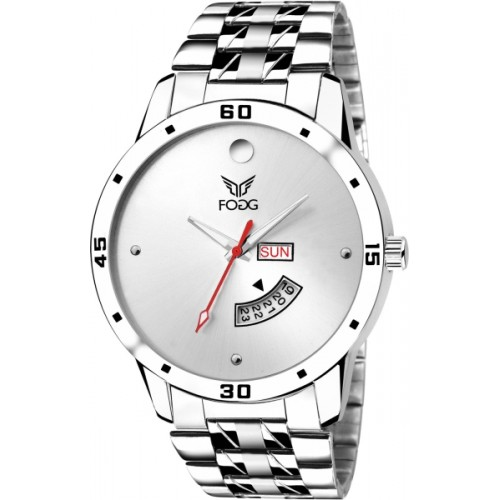 Fogg 2049-WH White Day and Date Watch  - For Men