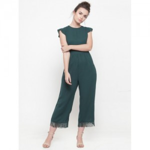 5de4e29b6707 Buy FOREVER 21 Teal Green Solid Jumpsuit online