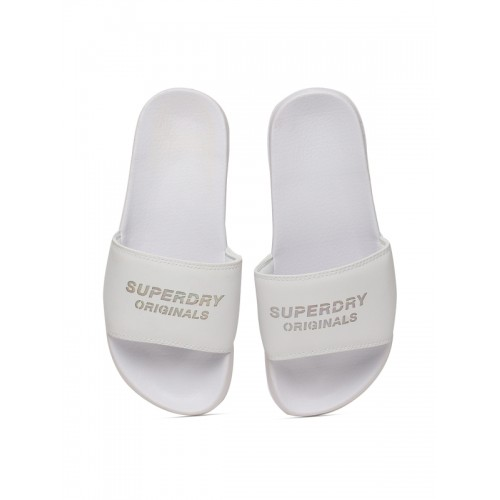 6b14aa31709ef5 Buy Superdry Originals Pool Slide White Flip Flops online