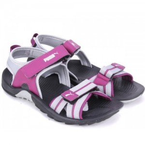 Puma Women Puma Black-Dark Purple Sports Sandals