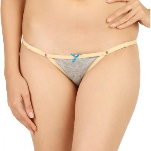 Vaishna Women's Bikini Beige, Brown, Grey Panty