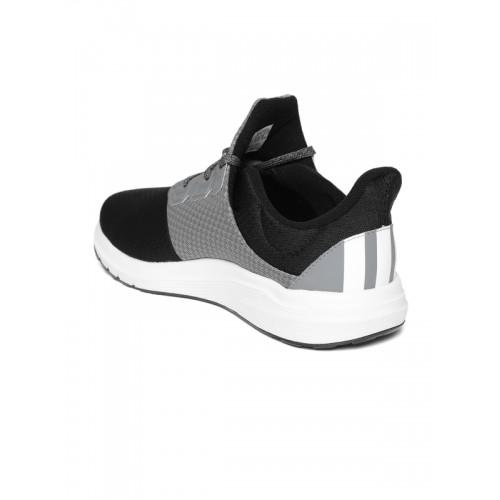 Adidas Men Black & Grey Raden Colourblocked Running Shoes