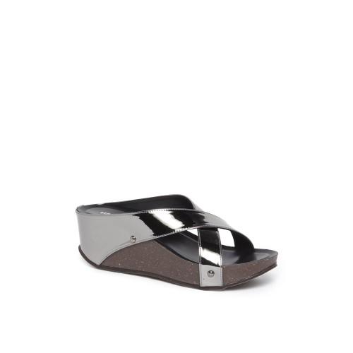 faac27d24bdc Buy LUNA BLU by Westside Pewter Wedge-Heel Sandals online ...