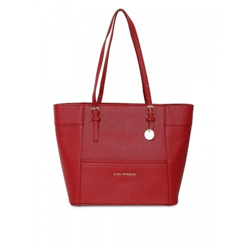 Lino Perros Red Polyurethane (Pu) Handbag